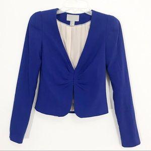 H&M Blue Crop Blazer